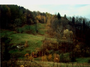 Sosnówka - widok na działkę z drogi głównej na Karpacz